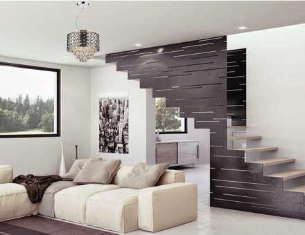 Lámparas-Fotoambientes: Salas de estilo moderno por Class Iluminación