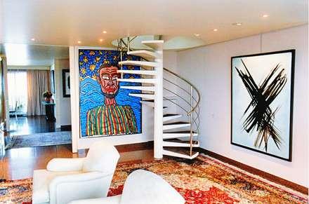 Appartement Paris 75116 :: Couloir et Hall d'entrée de style  par ARC et SENS