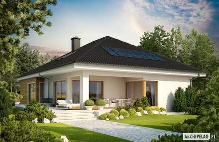 Projekt domu Liv 3 G2 : styl nowoczesne, w kategorii Domy zaprojektowany przez Pracownia Projektowa ARCHIPELAG