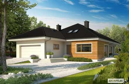 Projekt domu Liv 3 G2: styl nowoczesne, w kategorii Domy zaprojektowany przez Pracownia Projektowa ARCHIPELAG
