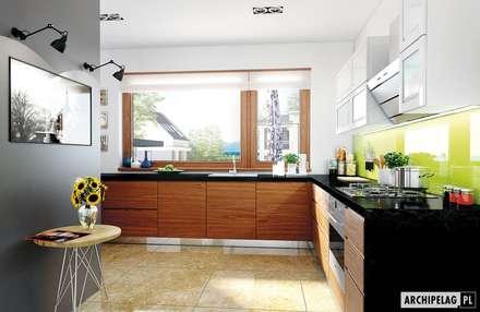 Projekt domu Liv 3 G2 | kuchnia : styl , w kategorii Kuchnia zaprojektowany przez Pracownia Projektowa ARCHIPELAG