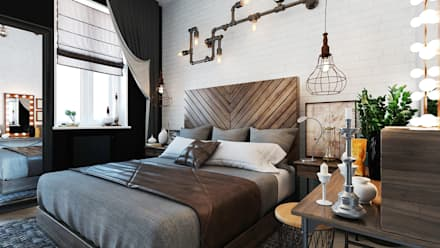 industrial Bedroom by Loft&Home