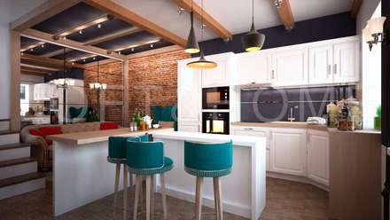 industrial Kitchen by Loft&Home