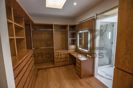غرفة الملابس تنفيذ RTZ-Arquitectos