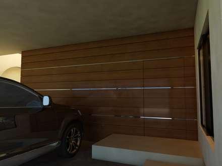 Remodelación Casa Lomas de Arbide: Garajes de estilo moderno por Flores Rojas Arquitectura