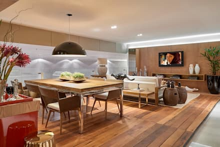 Decora Líder Brasília - Varanda Gourmet: Salas de jantar modernas por Lider Interiores