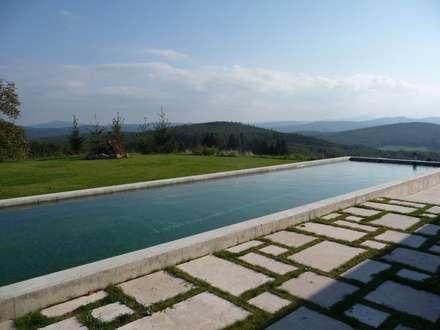 Newpool im Wienerwald: minimalistischer Pool von BEGRÜNDER