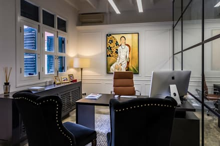 MD Office: eclectic Study/office by elliot James Pte Ltd