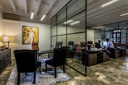 Main office: eclectic Study/office by elliot James Pte Ltd