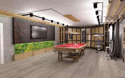 Бильярд: Тренажерные комнаты в . Автор – Студия дизайна Натали Хованской