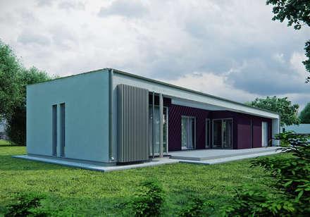 Projekty domów - House 15: styl nowoczesne, w kategorii Domy zaprojektowany przez Majchrzak Pracownia Projektowa
