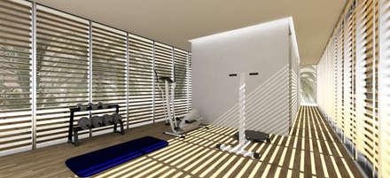 Gimnasios domésticos de estilo  por Gustavo Guimarães