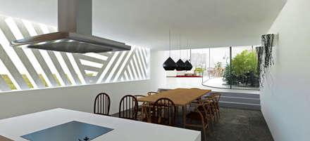 Cozinha e Sala de Jantar: Cozinhas tropicais por Gustavo Guimarães