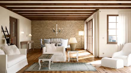 Wohnzimmer Einrichten Landhausstil - Wohndesign -