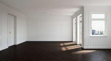 Classic White: klassische Wohnzimmer von makasa