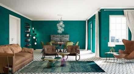 Wohnwelt Vintage: Skandinavische Wohnzimmer Von Makasa