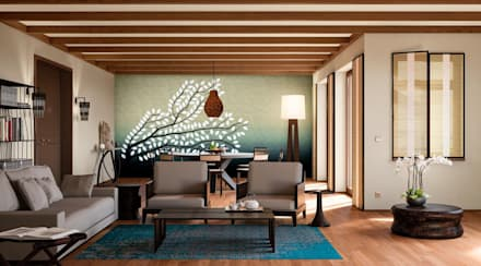 Wohnwelt Exotic: tropische Wohnzimmer von makasa