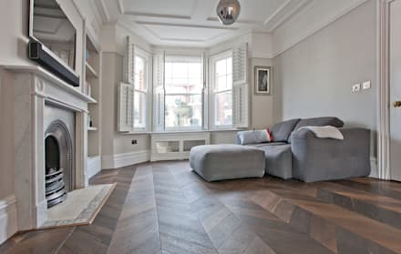 Richmond Full House Refurbishment: minimalistic Living room by A1 Lofts and Extensions