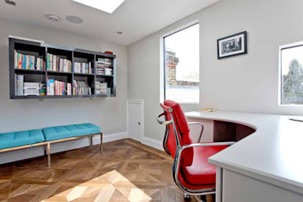 Richmond Full House Refurbishment: minimalistic Study/office by A1 Lofts and Extensions