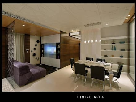 HEERA BLUEWATER: modern Dining room by smstudio