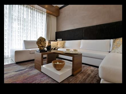 HEERA HI LIFE LOW RISE: modern Living room by smstudio
