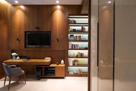 modern Media room by Atelier Design N Domain