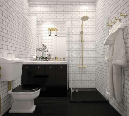 """Ванная. """"Американская классика"""": Ванные комнаты в . Автор – «Студия 3.14»"""