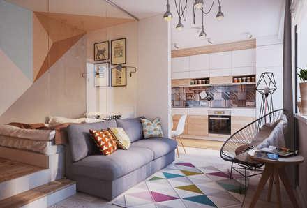 Apartament Verbi : Гостиная в . Автор – Polygon arch&des