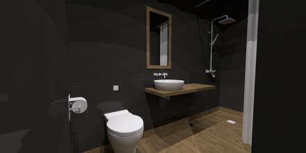 Maison E.M.: Salle de bain de style de style Scandinave par Ophélie Dohy architecte d'intérieur