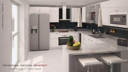 Residencia Colina da Asseca: Cozinhas modernas por Mendonça Santos