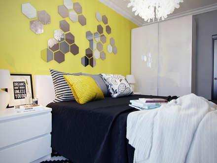 Спальня с желтыми акцентами: Спальни в . Автор - Коваль Татьяна
