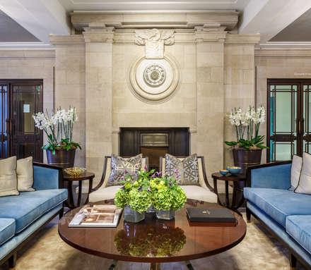 All lobby furniture is bespoke-designed by Goddard Littlefair:  Commercial Spaces by Goddard Littlefair