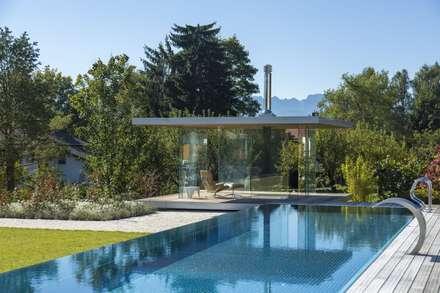 Gartenpavillon: minimalistischer Wintergarten von Glas Marte