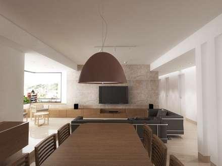 .: Comedores de estilo minimalista por RRA Arquitectura