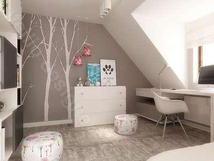 Pokój dziewczynki projekty wnętrz: styl , w kategorii Pokój dziecięcy zaprojektowany przez Intellio designers