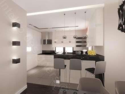 Otwarta kuchnia: styl , w kategorii Kuchnia zaprojektowany przez Intellio designers