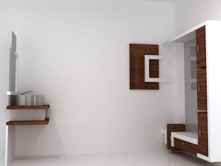 Duplex Residence: modern Dressing room by BAVA RACHANE