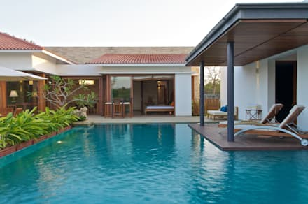 AA Villa: modern Pool by Atelier Design N Domain