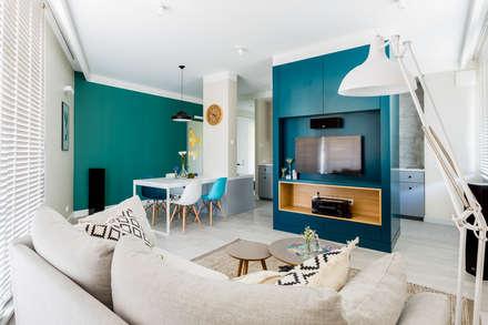 scandinavian Living room by Ayuko Studio