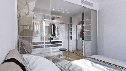 Квартира в ЖК Аэробус: Гардеробные в . Автор – 1+1 studio