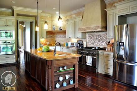 country style kitchen design ideas pictures homify. Black Bedroom Furniture Sets. Home Design Ideas
