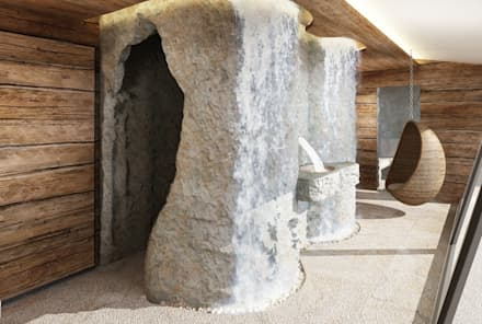 rendering interni stile rurale: Spa in stile In stile Country di Avogadri simone archi3d