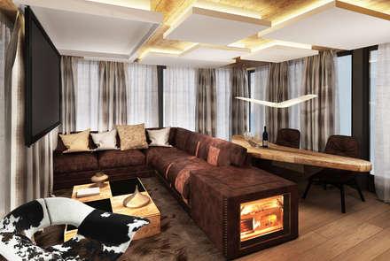 rendering interni stile rurale: Studio in stile In stile Country di Avogadri simone archi3d