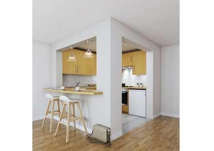 Breakfast Bar : modern Kitchen by Katie Malik Interiors