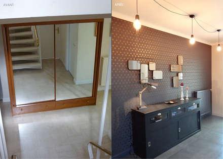 UN INTÉRIEUR RÉINVENTÉ: Couloir et hall d'entrée de style  par UN AMOUR DE MAISON
