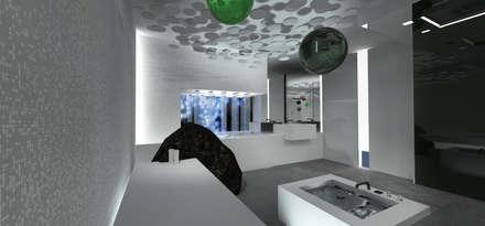 Horizontal Shower: minimalistisches Spa von schienbein+pier