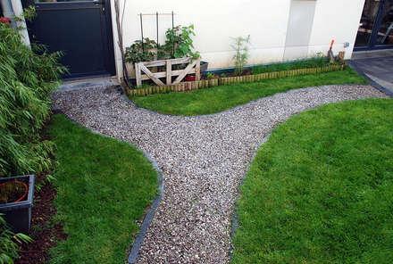 Jardin de 84m² à Villeneuve d'Ascq (59): Jardin de style de style eclectique par RVB PAYSAGE