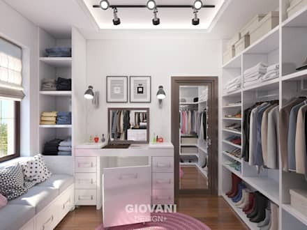 minimalistic Dressing room by Giovani Design Studio