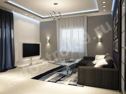 дизайн интерьера  частного дома для молодой семьи : Гостиная в . Автор – АвтоСтрой