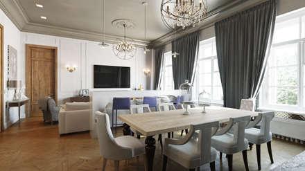 Квартира на Пречистенке: Столовые комнаты в . Автор – FAOMI